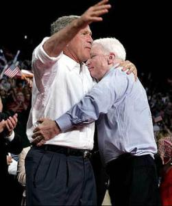 McCain embracing the policies of George Bush. Oh Yeah George Bush