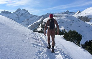 Swiss hiker